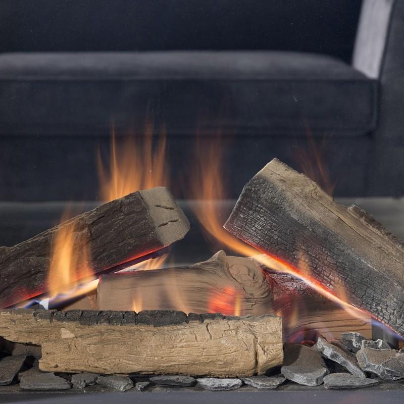 Element4 Realflame burner -houtset voor Sky Large serie