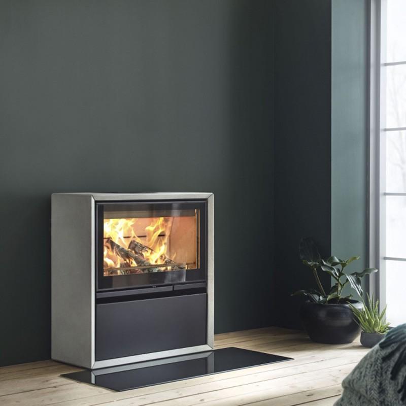 Contura 300/i7 Vloerplaat glas zwart 300 en i7 series