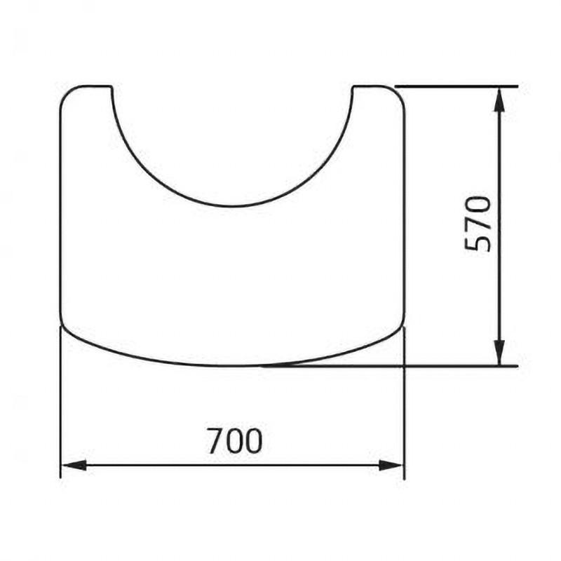 Contura 800 Vloerplaat glas wegneembaar 870/886 Style