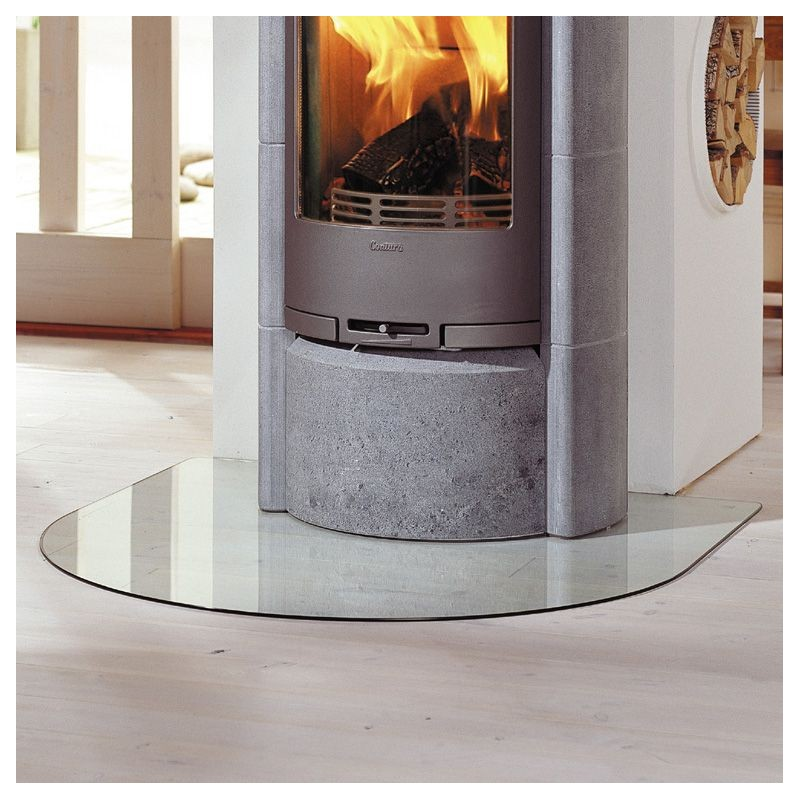 Contura 600-500-400 Vloerplaat toog model glas