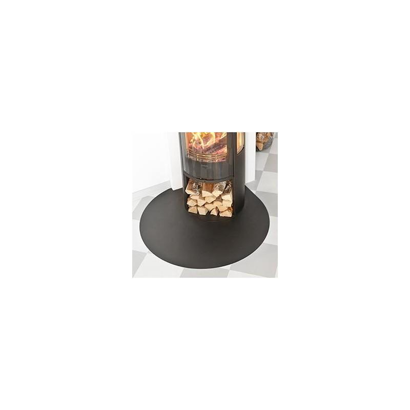 Contura 600-500-400 vloerplaat druppel zw/gr