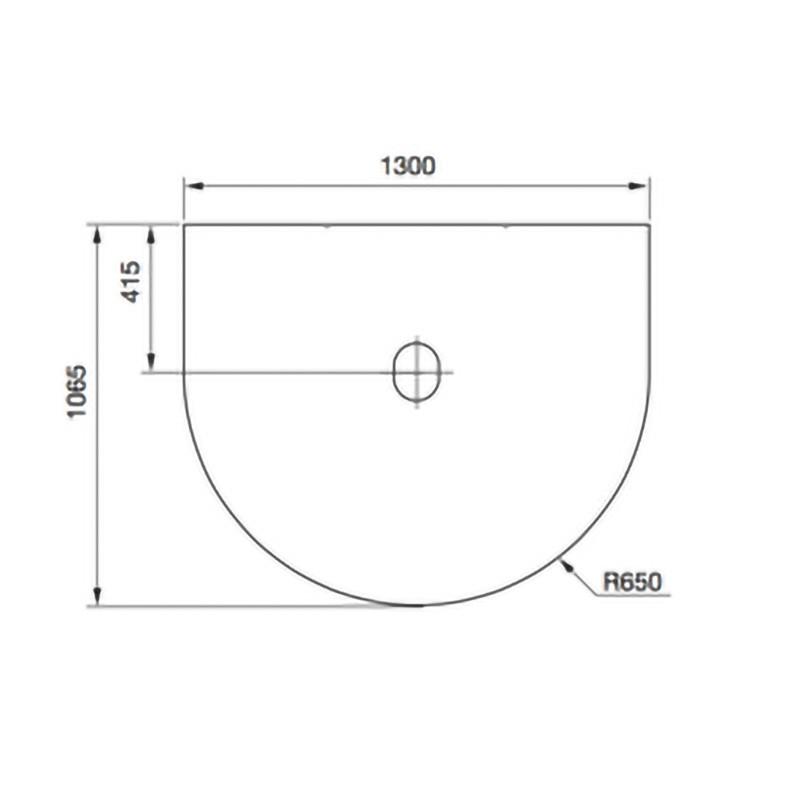 Contura 500-600 Vloerplaat Draaiplateau rotatie 90 zw/gr